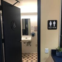Picture of an all-gender restroom in the CDC